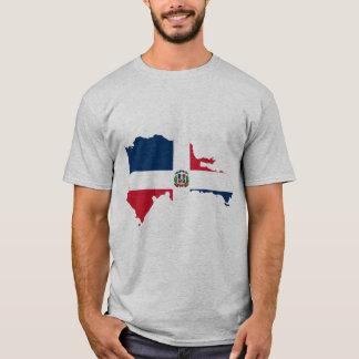 Bandera del mapa de la República Dominicana Camiseta