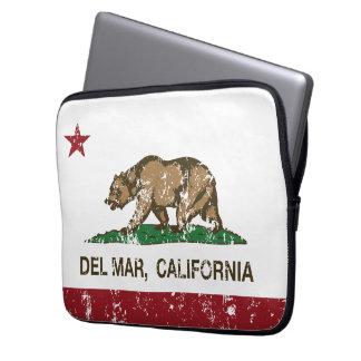 bandera Del Mar de California apenada Funda Ordendadores