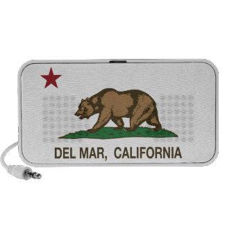 Bandera Del Mar del estado de la república de Cali Laptop Altavoces