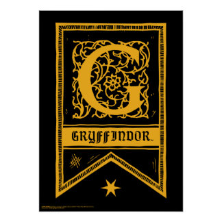 Bandera del monograma de Harry Potter el   Póster
