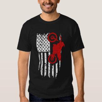 Bandera del motocrós camiseta