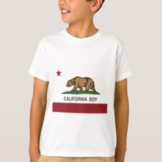 Bandera del muchacho de California Camiseta