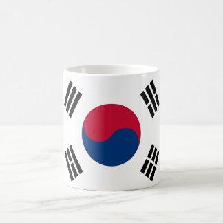 Bandera del mundo de la Corea del Sur Taza Básica Blanca