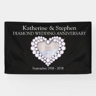Bandera del negro del aniversario de boda de
