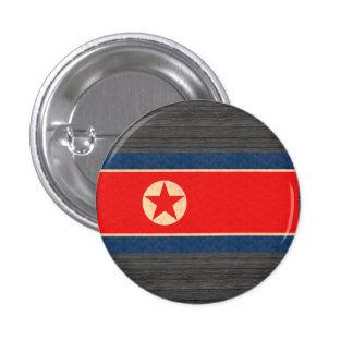 Bandera del North Korean del modelo del vintage Chapa Redonda 2,5 Cm