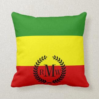Bandera del orgullo de Rastafarian Cojín