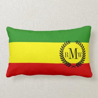 Bandera del orgullo de Rastafarian Cojines