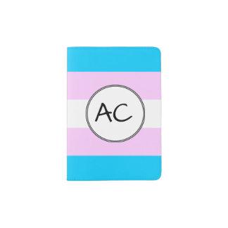Bandera del orgullo del transexual porta pasaportes