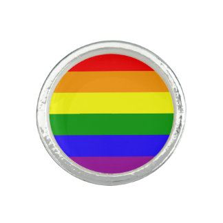 Bandera del orgullo gay anillos con foto