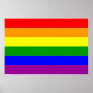 Bandera del orgullo gay/bandera del arco iris póster