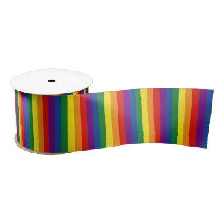 Bandera del orgullo gay lazo de raso