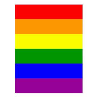 Bandera del orgullo gay tarjetas postales