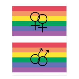 Bandera del orgullo gay postales