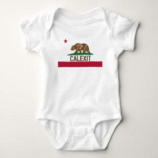 Bandera del oso de CALEXIT California Body Para Bebé