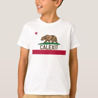 Bandera del oso de CALEXIT California Camiseta