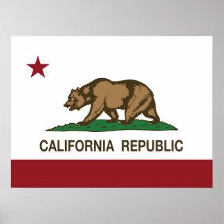 Bandera del oso de la república de California Impresiones