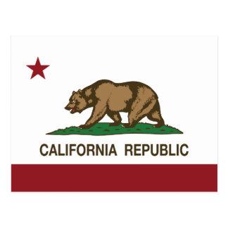 Bandera del oso de la república de California Tarjeta Postal