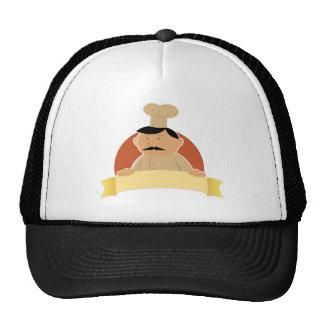 Bandera del panadero del dibujo animado gorra