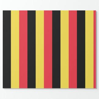 Bandera del papel de embalaje de Bélgica