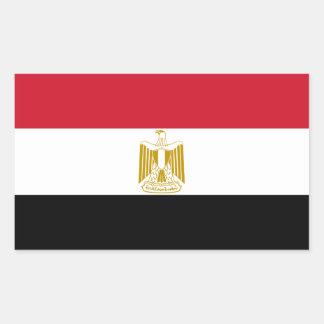 Bandera del pegatina de la etiqueta de Egipto