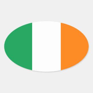 Bandera del pegatina del óvalo de Irlanda