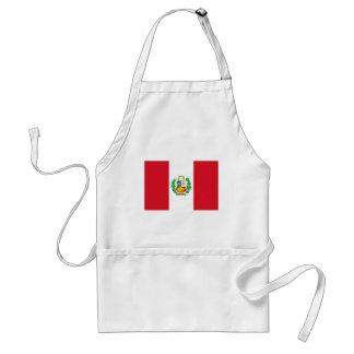 Bandera del Perú - bandera de Perú Delantal