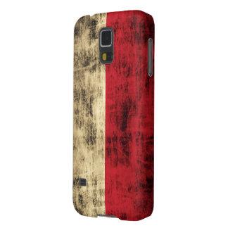 Bandera del polaco del Grunge del vintage Funda Para Galaxy S5