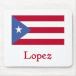 Bandera del puertorriqueño de López Alfombrilla De Ratón