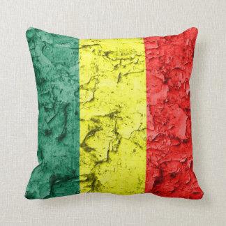 Bandera del rasta del vintage almohada