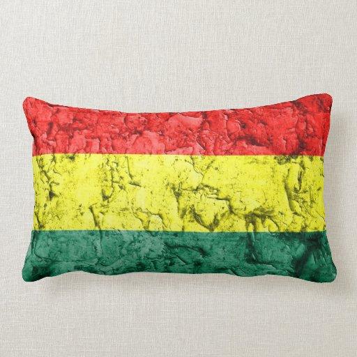 Bandera del rasta del vintage almohadas