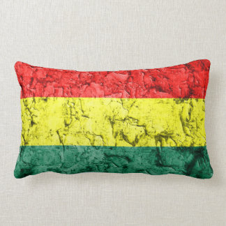 Bandera del rasta del vintage cojin