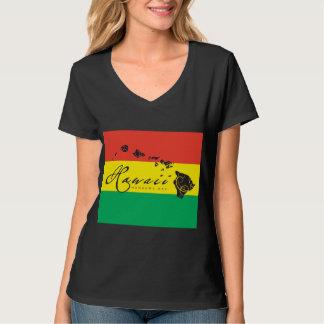 Bandera del reggae de la isla de Hawaii Camiseta