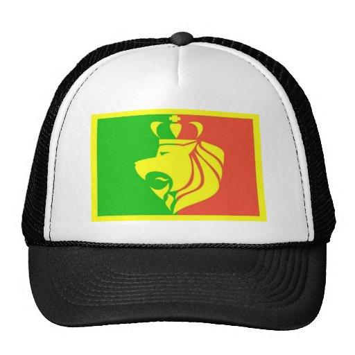 Bandera del reggae de Rasta del león Gorros