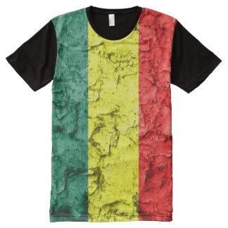 Bandera del reggae del vintage camisetas con estampado integral