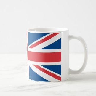 Bandera del Reino Unido Taza Básica Blanca