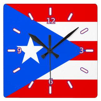 Bandera del reloj de Puerto Rico (con números)