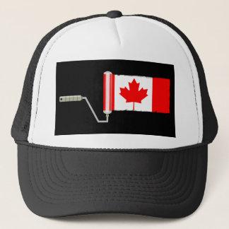 Bandera del rodillo de pintura de Canadá Gorra De Camionero