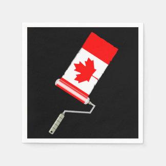 Bandera del rodillo de pintura de Canadá Servilletas Desechables
