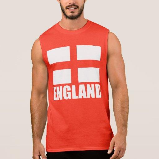 Bandera del rojo de Inglaterra Camisetas Sin Mangas