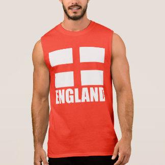 Bandera del rojo de Inglaterra Remera Sin Mangas