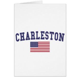 Bandera del SC los E.E.U.U. de Charleston Tarjeta De Felicitación