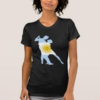 Bandera del tango camisetas