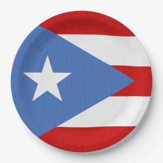 Bandera del tema de Puerto Rico Plato De Papel