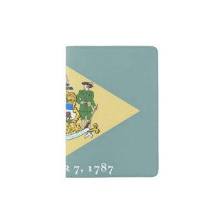 Bandera del tenedor del pasaporte de Delaware Portapasaportes