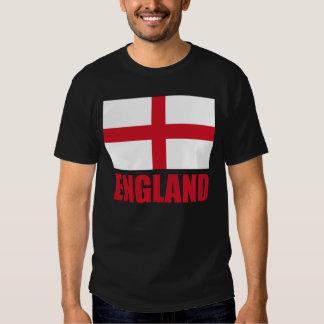 Bandera del texto del rojo de Inglaterra Camisetas