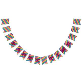 Bandera del tiempo del fiesta del arco iris
