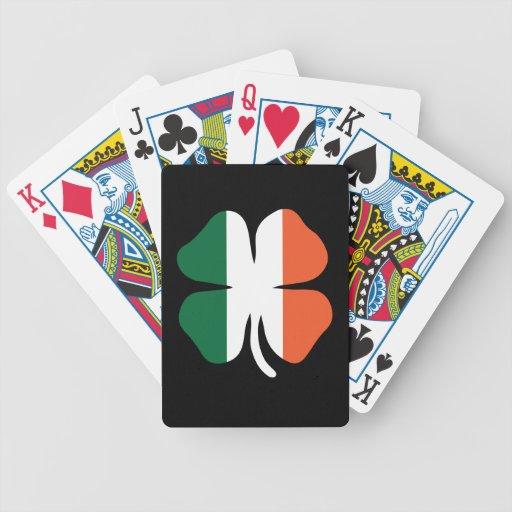 Bandera del trébol baraja de cartas