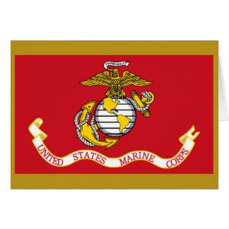 Bandera del USMC Tarjeta