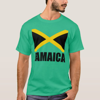 Bandera del verde negro del texto de Jamaica Camiseta