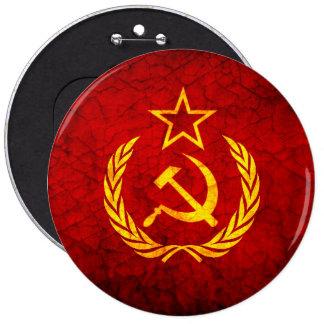 Bandera del vintage CCCP Chapa Redonda De 15 Cm